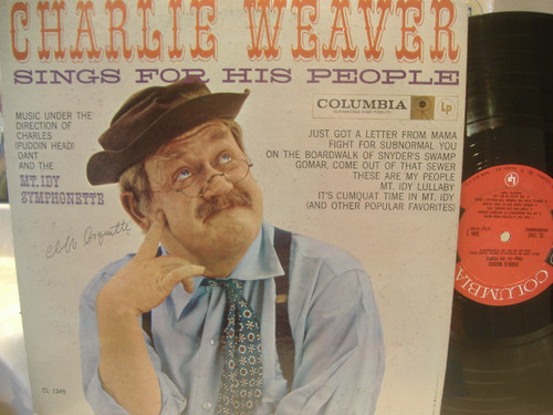 Arquette, Cliff LP Signed Autograph Charlie Charley Weaver Sings For His People