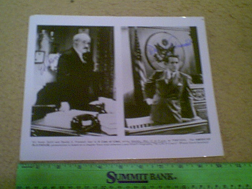 "Asner, Ed & Daniel J. Travanti 1983 Photo ""A Case Of Libel"" Signed Autograph Movie Scene"