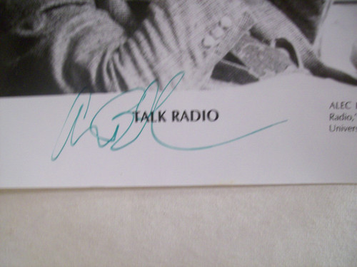 Baldwin, Alec Photo Signed Autograph Talk Radio 1988