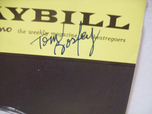 Bosley, Tom Harry Guardino Playbill Signed Autograph Natural Affection 1963