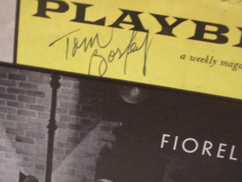 Bosley, Tom Playbill Signed Autograph Fiorello! 1961