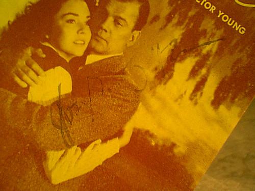 "Cotten, Joseph Jennifer Jones ""Love Letters"" 1945 Sheet Music Signed Autograph"