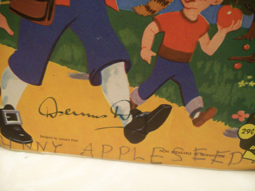 Day, Dennis 45 Signed Autograph Picture Sleeve Johnny Appleseed