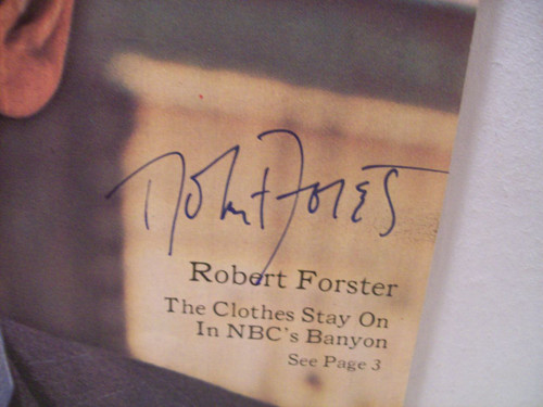 Forster, Robert TV Week Signed Autograph Banyon Oct 29 1972