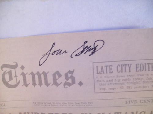 Gossett Jr., Louis Theater Program Signed Autograph Murderous Angels 1971