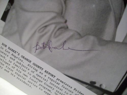 Harke, Bob Photo Signed Autograph Orange County Report
