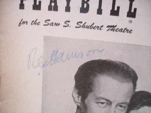 Harrison, Rex Playbill Signed Autograph The Love of Four Colonels 1953