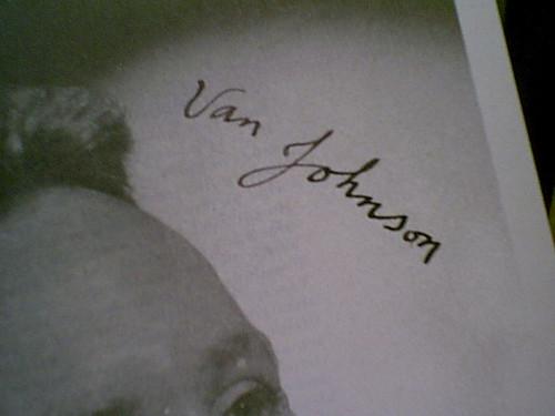"Johnson, Van 1946 Photo Signed Autograph ""Ziegfeld Follies"""