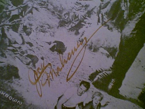 "Mahoney, Jock Photo Signed Autograph ""The Land Unknown"" Movie Scene"