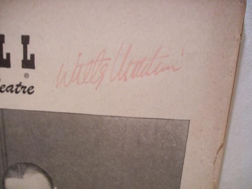Matthau, Walter Playbill Signed Autograph One Bright Day 1952