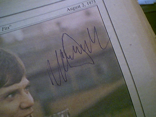 Mcdowell, Malcolm Rolling Stone Magazine 1973 Signed Autograph Cover Photo