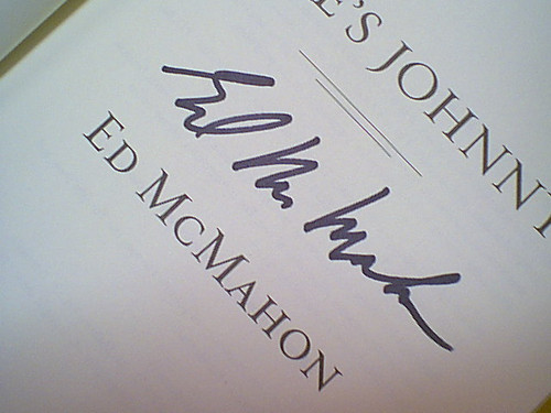 """Mcmahon, Ed """"Here'S Johnny!"""" 2005 Book Signed Autograph Photos"""