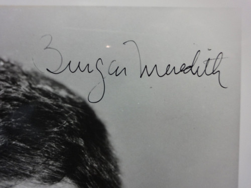 Meredith, Burgess Photo Signed Autograph