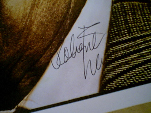Mitchum, Robert Color Photo Signed Autograph