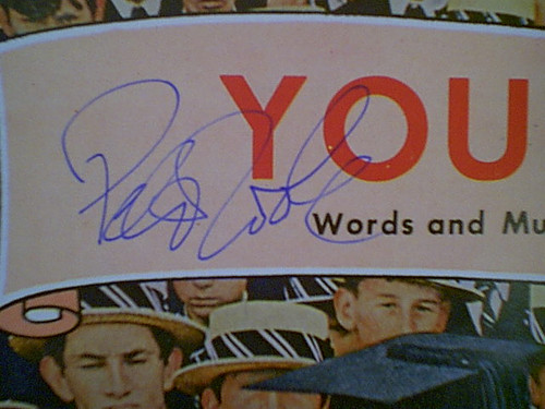 """O'Toole, Peter """"You And I"""" 1969 Sheet Music Signed Autograph """"Goodbye Mr. Chips"""" Color Cover Photo"""