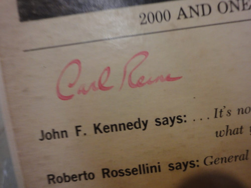 """Reiner, Carl and Mel Brooks """"2000 And One Years With"""" 1961 LP Signed Autograph"""