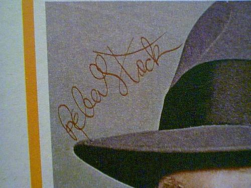 "Stack, Robert 1960'S Color Photo ""The Untouchables"" Signed Autograph"