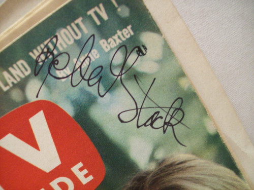 Stack, Robert TV Guide Signed Autograph 1961