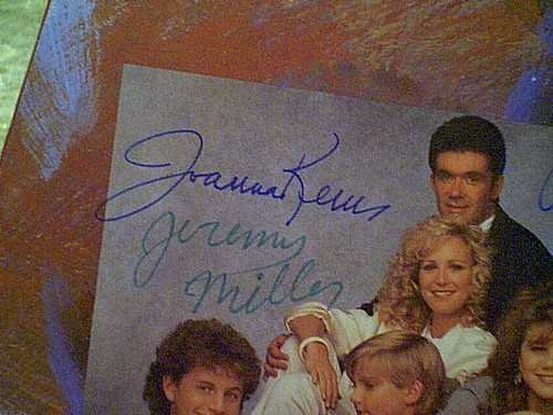 Thicke Alan Joanna Kerns Kirk Cameron Jeremy Miller LP Signed Autograph Growing Pains 1988