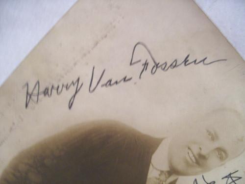 Van Fossen, Harry Photo Signed Autograph Vintage Sepia Tone Broadway