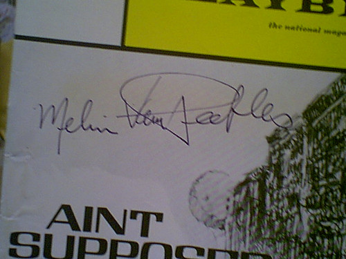 """Van Pebbles, Melvin 1971 Playbill """"Ain't Supposed To Die A Natural Death"""" Signed Autograph"""