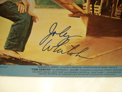 Whitaker, Johnny Photo Signed Autograph Tom Sawyer 1973