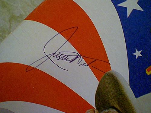 Wilson, Justin LP Signed Autograph For True Cajun Tv Chef