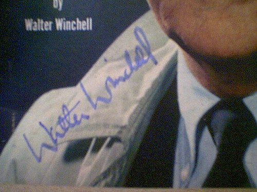 Winchell, Walter TV Guide Magazine 1958 Signed Autograph Color Cover Photo