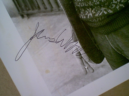 Woods, James Photo Signed Autograph