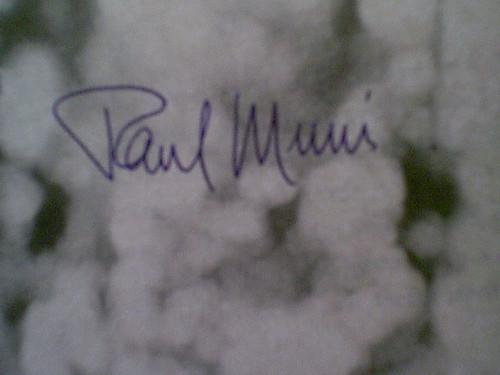 Muni, Paul Early Photo Signed Autograph Movie