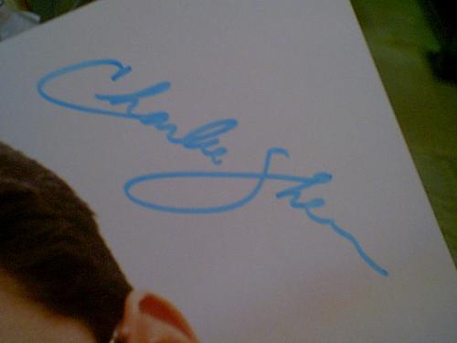 Sheen, Charlie Color Photo Autograph Movie Scene
