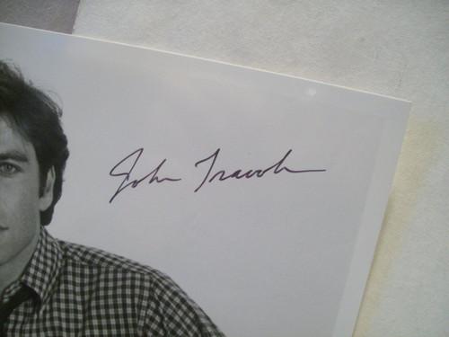 Travolta, John Photo Signed Autograph Perfect