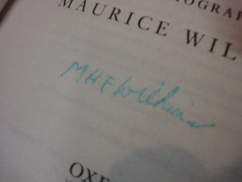 """Wilkins, Maurice """"The Third Man Of The Double Helix"""" 2003 Book Signed Autograph Photos DNA"""