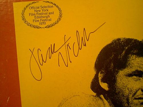 """Nicholson, Jack """"Five Easy Pieces"""" 1970 LP Signed Autograph Photos"""
