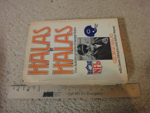 "Halas, George  ""Halas By Halas"" 1979 Book Signed Autograph Photos Chicago Bears Football"
