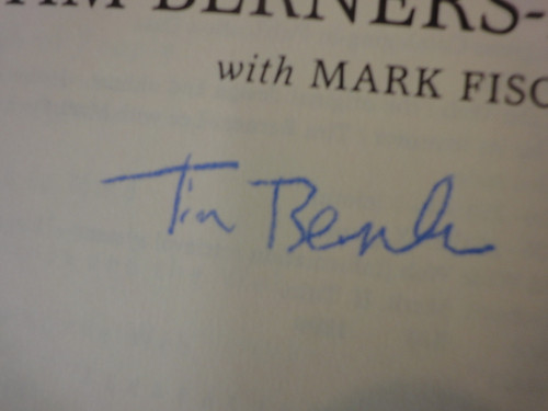 """Berners-Lee, Berners Lee Tim """"Weaving The Web"""" 1999 Book Signed Autograph World Wide Web First Edition"""