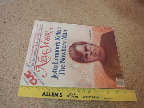 "Mark David Chapman ""John Lennon's Killer"" New York Magazine Signed Autograph"