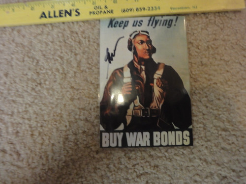 George Boyd Black Tuskegee Airmen Color Photo Signed Autograph