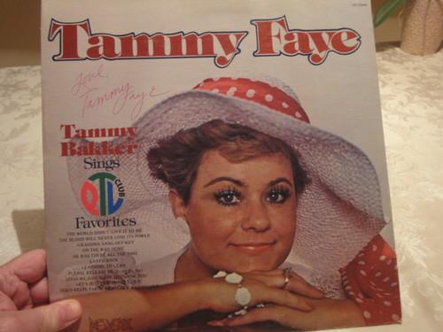 "Tammy Faye Bakker ""Sings PTL Club Favorites"" LP Signed Autograph PTL Jim Bakker"