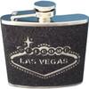 Black Glitter Las Vegas Souvenir Flask