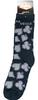 Black Socks with Gray Card Suits and Gray Las Vegas on them-adult socks.