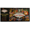 Rectangle Postcard Book. Cover shows a black design with the Las Vegas Strip Casinos on it.