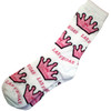 White Sock with Princess Crown and Las Vegas repeating all over it.