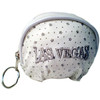 White Las Vegas Diamond Stars- Dome Coin Purse