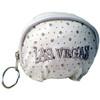 White Las Vegas Diamond Stars- Dome Coin Purse