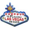 Acrylic Blue Las Vegas Sign Magnet with Diamonds.