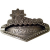 Metal pewter color Las Vegas Welcome Sign shaped ashtray. Great attention to detail.