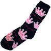 Black Las Vegas Sock with Pink Princess Crown design.
