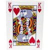 King of heart shown on this package for the enormous playing cards.