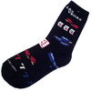 Las Vegas Gaming Icons on a Black Background Sock